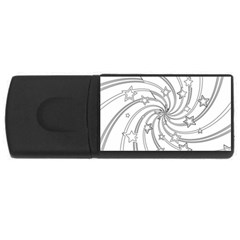 Star Christmas Pattern Texture Rectangular Usb Flash Drive
