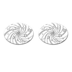 Star Christmas Pattern Texture Cufflinks (oval)