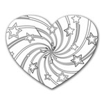 Star Christmas Pattern Texture Heart Mousepads Front