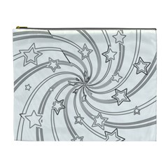 Star Christmas Pattern Texture Cosmetic Bag (xl)