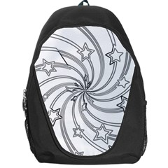Star Christmas Pattern Texture Backpack Bag