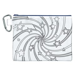 Star Christmas Pattern Texture Canvas Cosmetic Bag (xxl)