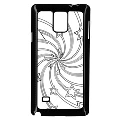 Star Christmas Pattern Texture Samsung Galaxy Note 4 Case (black)