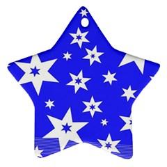 Star Background Pattern Advent Ornament (star)