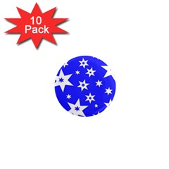 Star Background Pattern Advent 1  Mini Magnet (10 Pack)