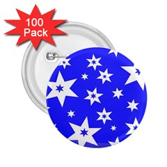 Star Background Pattern Advent 2 25  Buttons (100 Pack)