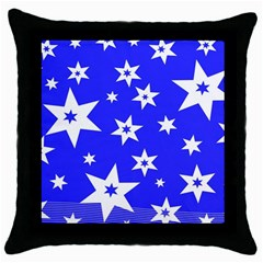 Star Background Pattern Advent Throw Pillow Case (black)