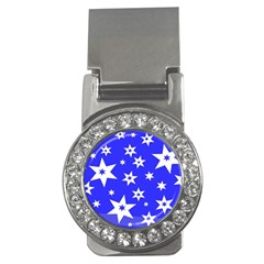 Star Background Pattern Advent Money Clips (cz)