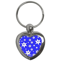 Star Background Pattern Advent Key Chains (heart)
