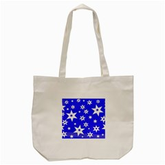 Star Background Pattern Advent Tote Bag (cream)