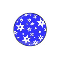 Star Background Pattern Advent Hat Clip Ball Marker (10 Pack)