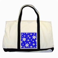 Star Background Pattern Advent Two Tone Tote Bag