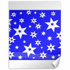 Star Background Pattern Advent Canvas 18  X 24