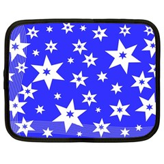 Star Background Pattern Advent Netbook Case (large)