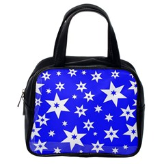 Star Background Pattern Advent Classic Handbags (one Side)