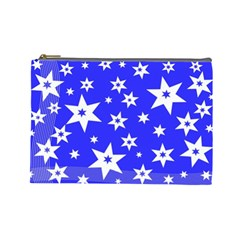 Star Background Pattern Advent Cosmetic Bag (large)