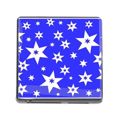 Star Background Pattern Advent Memory Card Reader (square)
