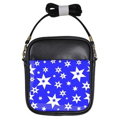 Star Background Pattern Advent Girls Sling Bags