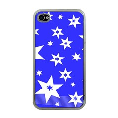 Star Background Pattern Advent Apple Iphone 4 Case (clear)