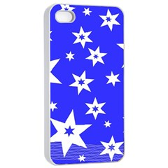 Star Background Pattern Advent Apple Iphone 4/4s Seamless Case (white)