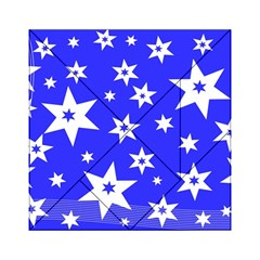 Star Background Pattern Advent Acrylic Tangram Puzzle (6  X 6 )