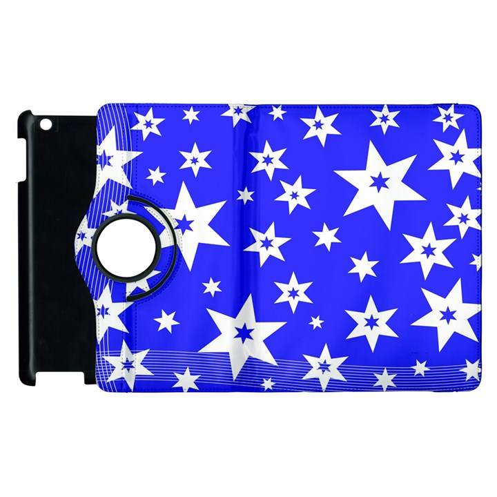 Star Background Pattern Advent Apple iPad 2 Flip 360 Case