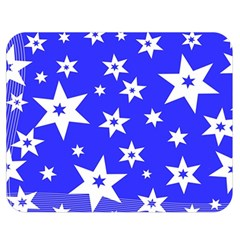 Star Background Pattern Advent Double Sided Flano Blanket (medium)