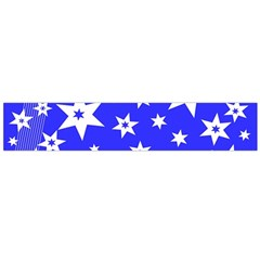 Star Background Pattern Advent Large Flano Scarf