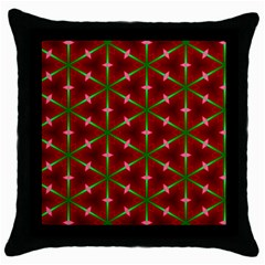 Textured Background Christmas Pattern Throw Pillow Case (black)