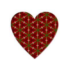 Textured Background Christmas Pattern Heart Magnet