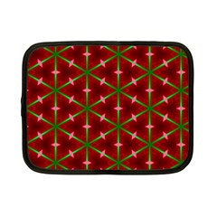 Textured Background Christmas Pattern Netbook Case (small)