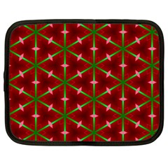 Textured Background Christmas Pattern Netbook Case (large)