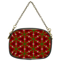 Textured Background Christmas Pattern Chain Purses (one Side)