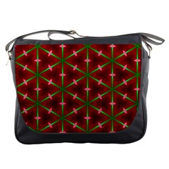 Textured Background Christmas Pattern Messenger Bags