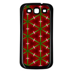Textured Background Christmas Pattern Samsung Galaxy S3 Back Case (black)