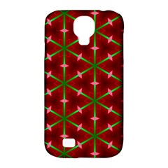 Textured Background Christmas Pattern Samsung Galaxy S4 Classic Hardshell Case (pc+silicone)