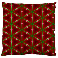 Textured Background Christmas Pattern Large Flano Cushion Case (one Side)
