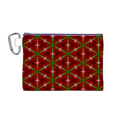 Textured Background Christmas Pattern Canvas Cosmetic Bag (m)