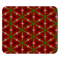 Textured Background Christmas Pattern Double Sided Flano Blanket (small)