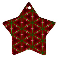 Textured Background Christmas Pattern Ornament (star)