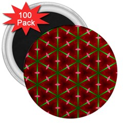 Textured Background Christmas Pattern 3  Magnets (100 Pack)