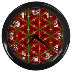 Textured Background Christmas Pattern Wall Clocks (black)