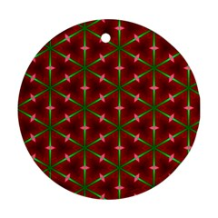 Textured Background Christmas Pattern Round Ornament (two Sides)