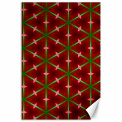 Textured Background Christmas Pattern Canvas 24  X 36