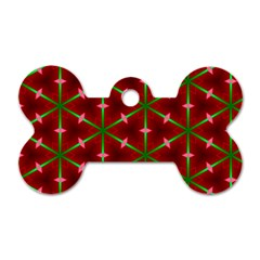 Textured Background Christmas Pattern Dog Tag Bone (one Side)