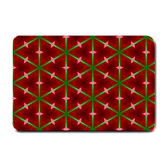 Textured Background Christmas Pattern Small Doormat