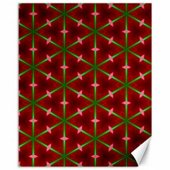 Textured Background Christmas Pattern Canvas 11  X 14