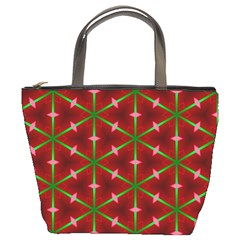 Textured Background Christmas Pattern Bucket Bags