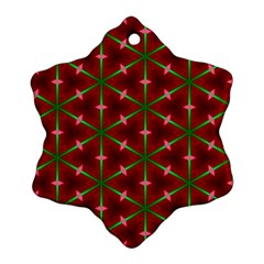 Textured Background Christmas Pattern Ornament (snowflake)
