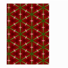 Textured Background Christmas Pattern Small Garden Flag (two Sides)